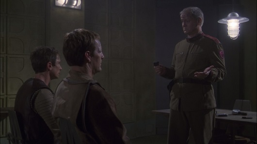 Archer and Reed being interrogated in The Communicator