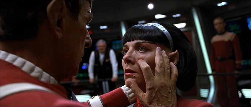 Spock forcing a mind meld with Valeris in Star Trek VI The Undiscovered Country